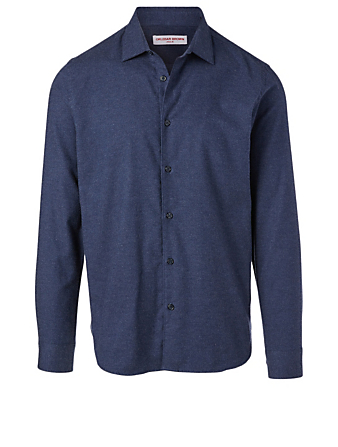 ORLEBAR BROWN Giles Cotton And Cashmere Tailored Shirt Men's Blue