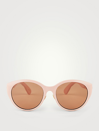 GUCCI Cat Eye Sunglasses Women's Pink
