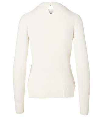 ALEXANDER MCQUEEN Cashmere And Silk Embellished Sweater Women's White