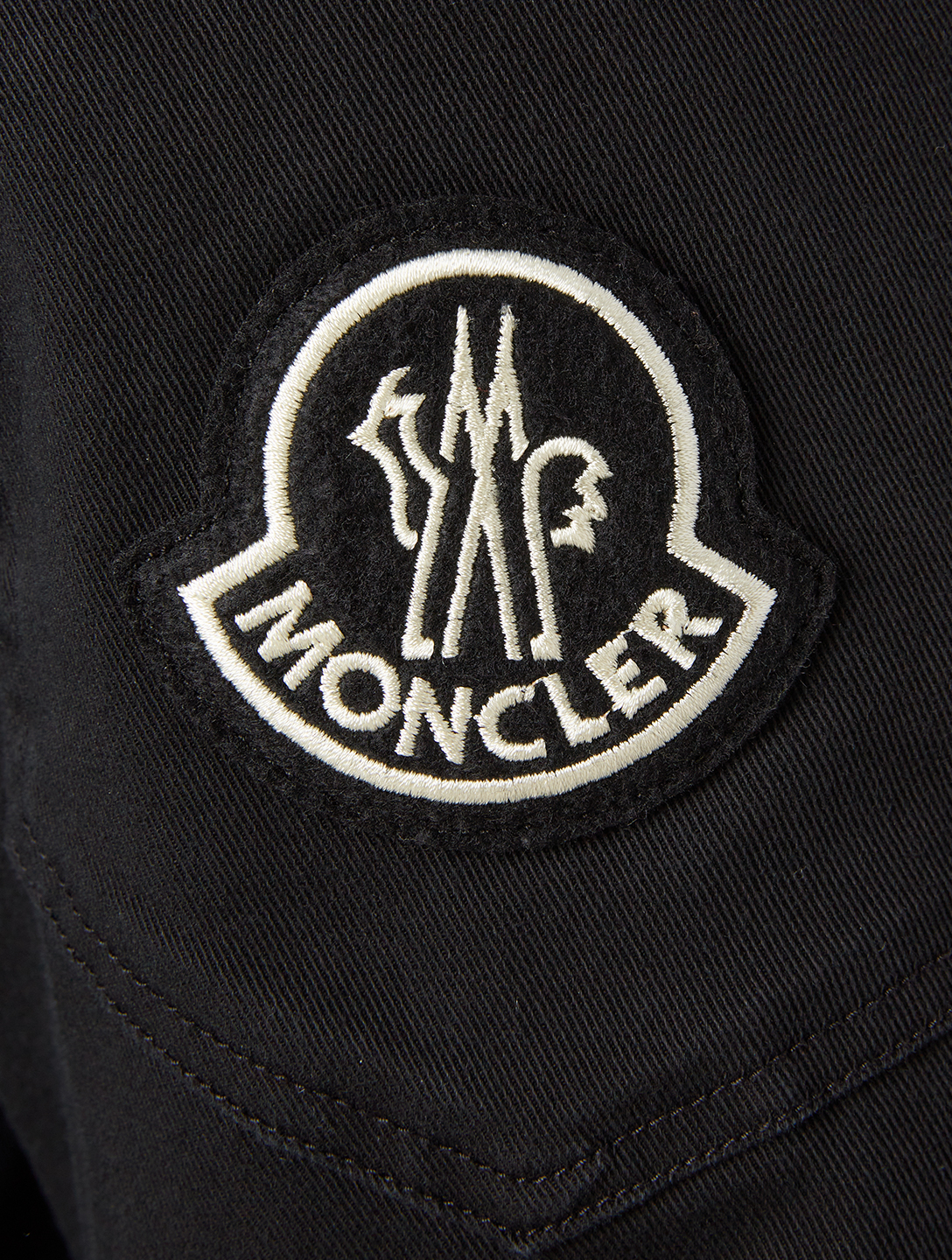MONCLER Cotton Stretch Slim Pants Men's Black