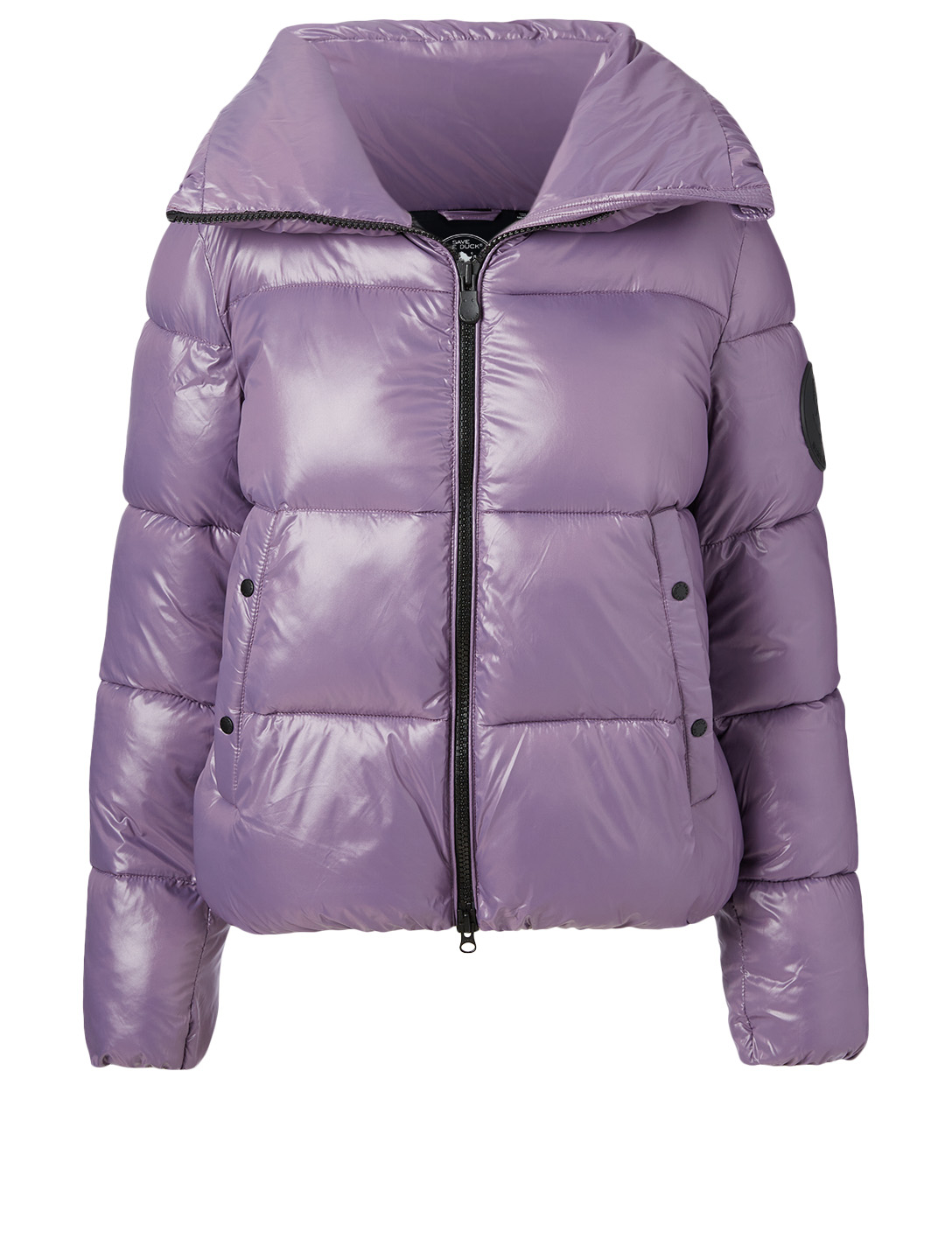 SAVE THE DUCK Luck Oversized Puffer Jacket With Stand Collar Women's Purple