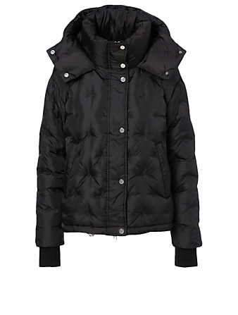 MOOSE KNUCKLES Spalding Oversized Down Jacket With Hood Women's Black