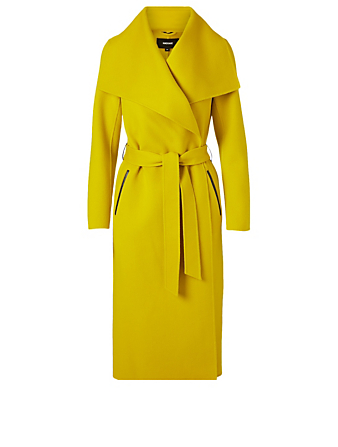 MACKAGE Mai Wool Midi Coat Women's Yellow
