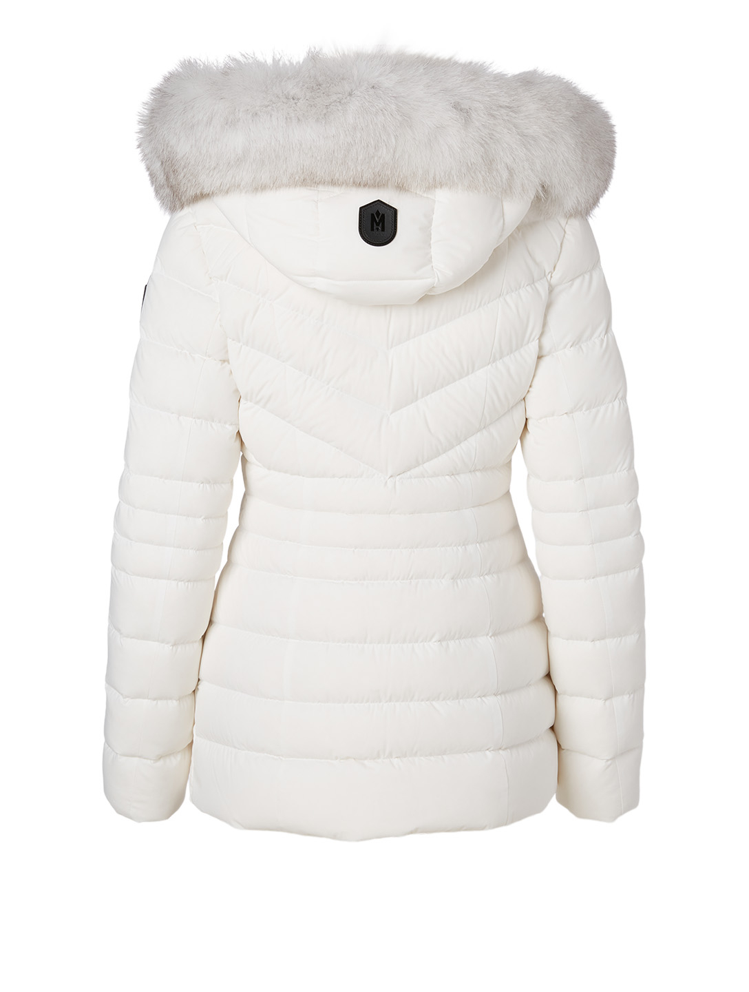 MACKAGE Patsy Quilted Down Coat With Fur Collar Women's White