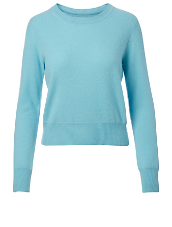 NAADAM Cashmere Cropped Crewneck Sweater H Project Blue