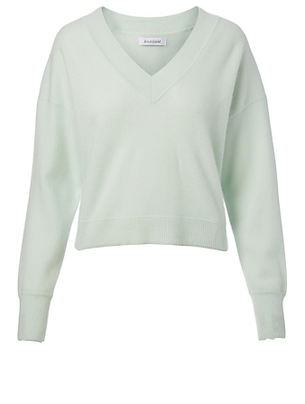 NAADAM Cashmere V-Neck Sweater H Project Green