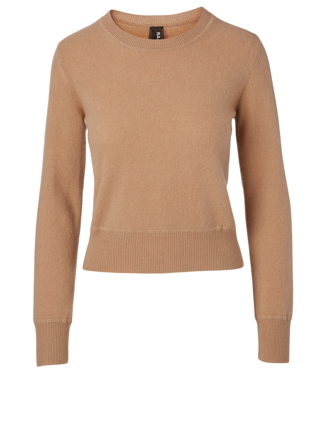NAADAM Cashmere Cropped Crewneck Sweater H Project Beige