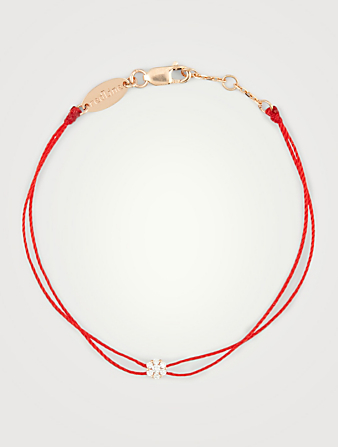 REDLINE Bracelet double fil Illusion en or rose 18 ct avec diamants Femmes Rose
