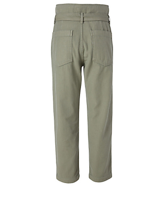 CITIZENS OF HUMANITY Noelle Belted Cargo Pants Women's Green