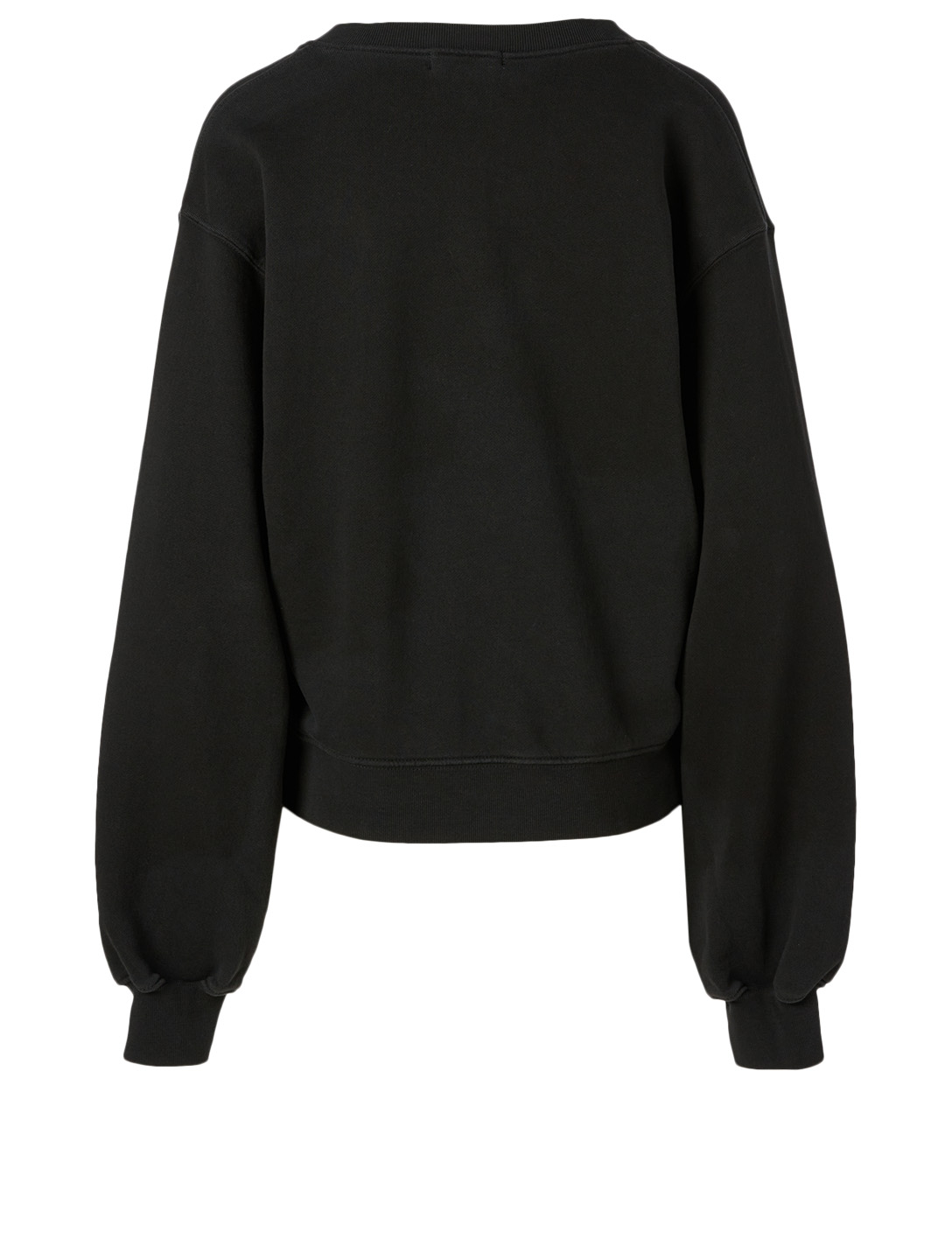 AGOLDE V-Neck Balloon-Sleeve Sweatshirt Women's Black