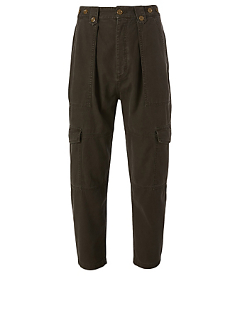 AGOLDE Mila High-Rise Utility Tapered Pants Women's Brown