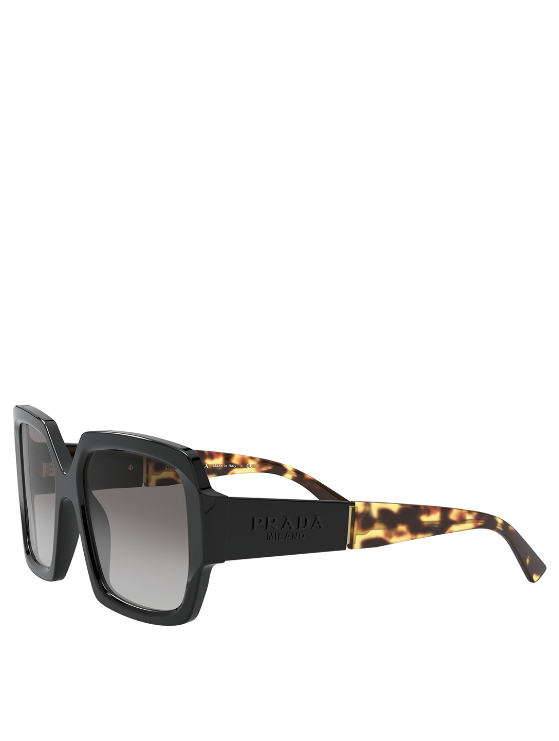PRADA Square Sunglasses Women's Black