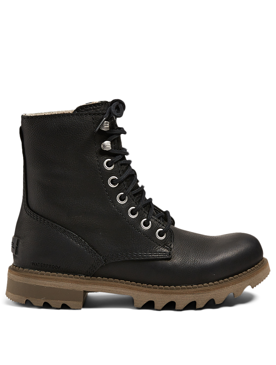 SOREL Mad Brick™ Leather Lace-Up Ankle Boots Men's Black