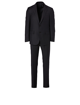 ERMENEGILDO ZEGNA Wool Two-Piece Suit In Check Print Men's Grey