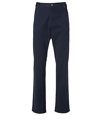 ERMENEGILDO ZEGNA Cotton Stretch Pants Men's Blue