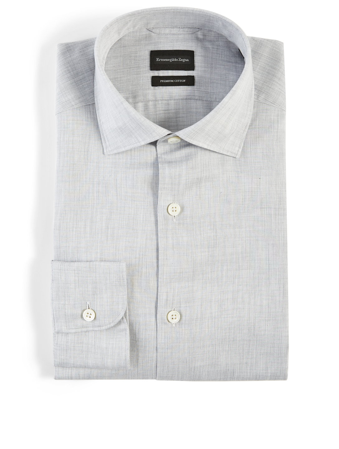 ERMENEGILDO ZEGNA Cotton Casual Shirt Men's Grey