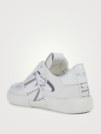 VALENTINO GARAVANI VL7N Leather Sneakers With Bands Men's White