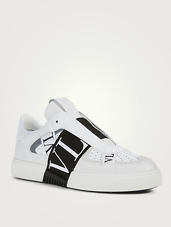 VALENTINO GARAVANI VL7N Leather Sneakers With Bands Men's Multi