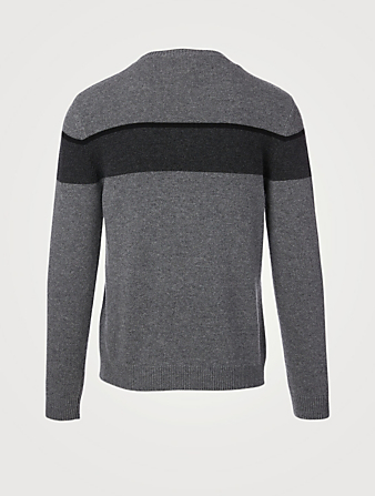 VALENTINO Wool And Cashmere Sweater With Intarsia Men's Multi