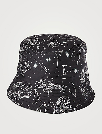 VALENTINO GARAVANI Bucket Hat In Zodiac Print Men's Black