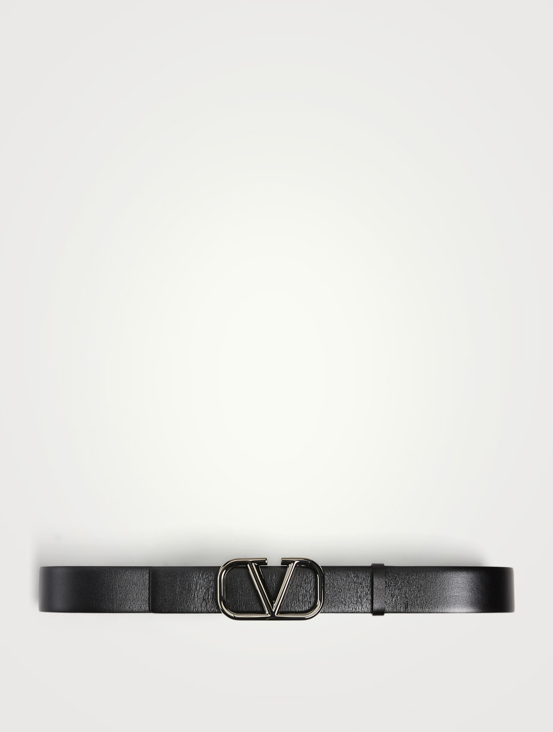 VALENTINO GARAVANI VLOGO Signature Leather Belt Men's Black