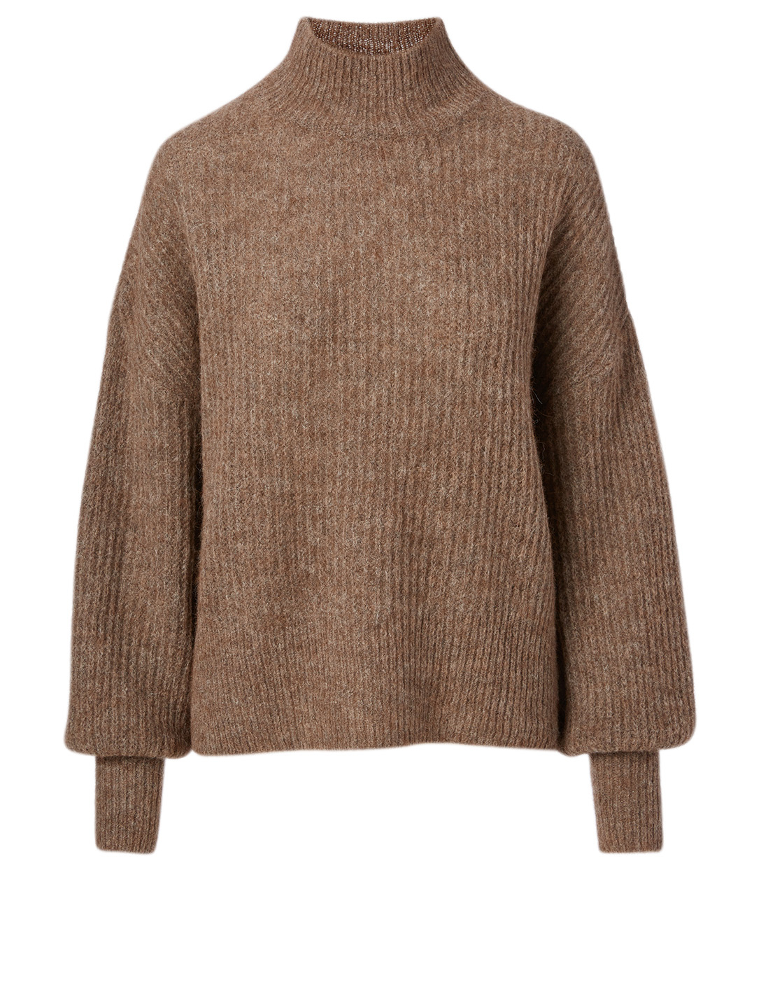 WON HUNDRED Blakely Alpaca And Wool Turtleneck Sweater Women's Brown