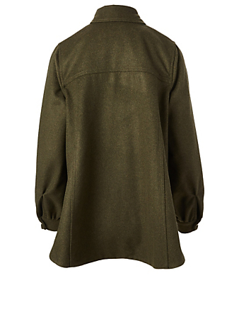WON HUNDRED Odette Wool-Blend Jacket Women's Green