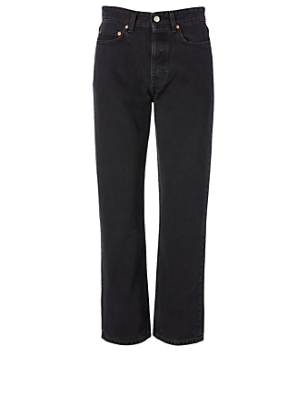 WON HUNDRED Pearl Loose High-Waisted Jeans Women's Black
