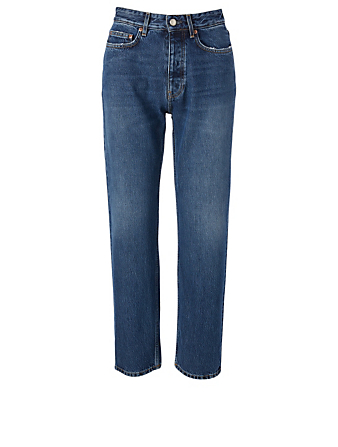 WON HUNDRED Jean ample à taille haute Pearl Femmes Bleu
