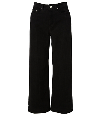 WON HUNDRED Kiri Corduroy Crop High-Waisted Jeans Women's Black