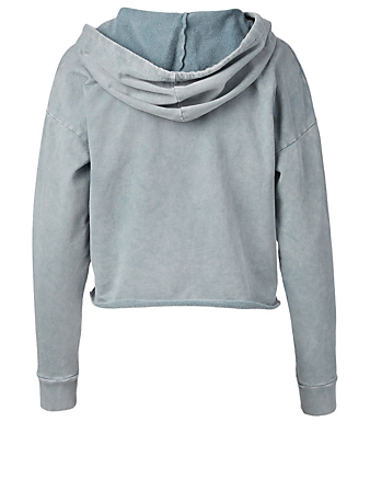 BEYOND YOGA Hey Chambray Terry Cotton Hoodie Women's Blue