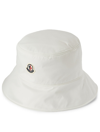 MONCLER Bucket Hat With Logo Women's White