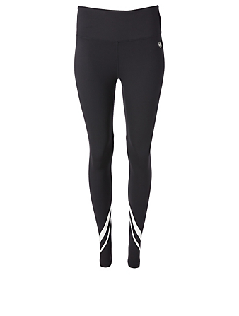 TORY SPORT Weightless Chevron High-Waisted Leggings Women's Black