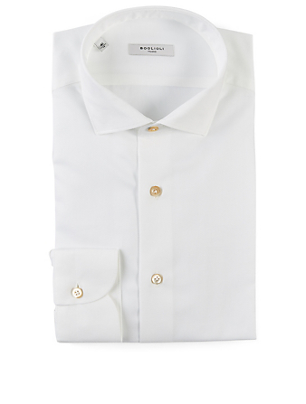 BOGLIOLI Cotton Slim-Fit Shirt Men's White
