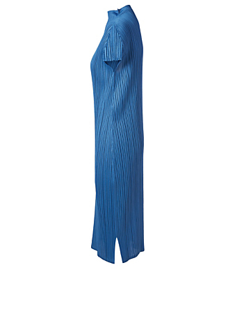 PLEATS PLEASE ISSEY MIYAKE Monthly Colour Midi Dress Women's Blue