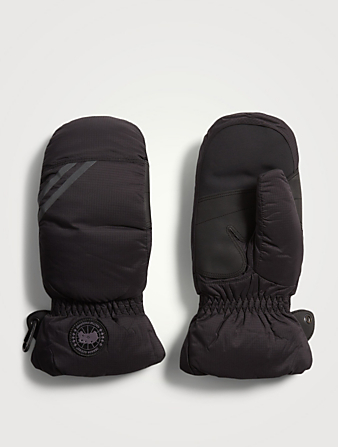 CANADA GOOSE HyBridge Down Mittens Women's Black