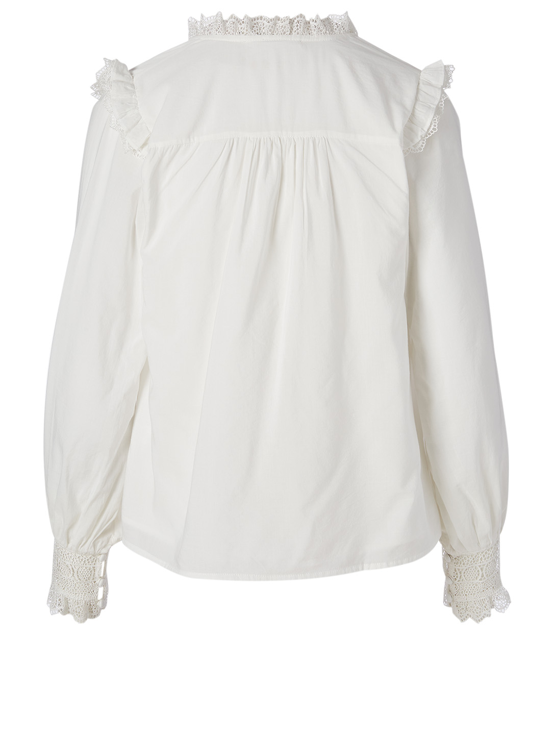 MAGALI PASCAL Henriette Button-Up Top With Lace H Project White