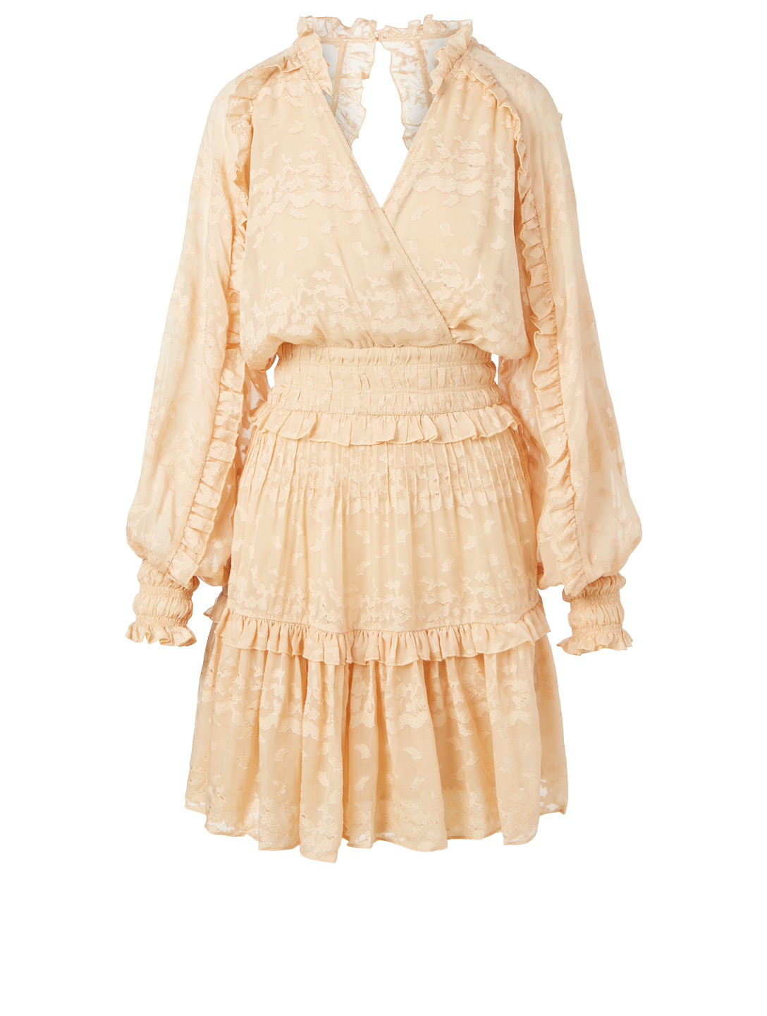 MAGALI PASCAL Lucille Long-Sleeve Midi Dress H Project Beige