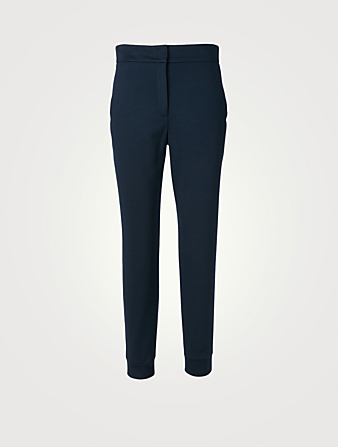 AKRIS Wool Jersey Jogger Pants Women's Blue