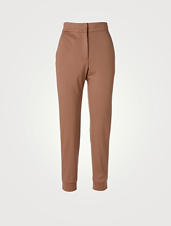 AKRIS Wool Jersey Jogger Pants Women's Brown