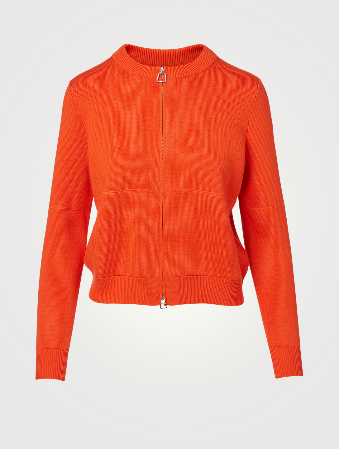 AKRIS Wool And Silk Cropped Cardigan Women's Orange