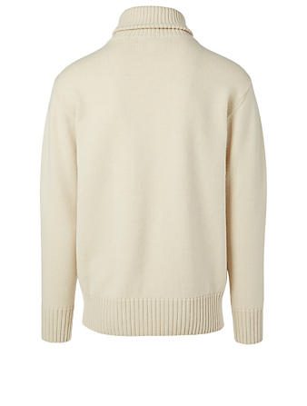 JUNYA WATANABE Wool Turtleneck Sweater Men's White
