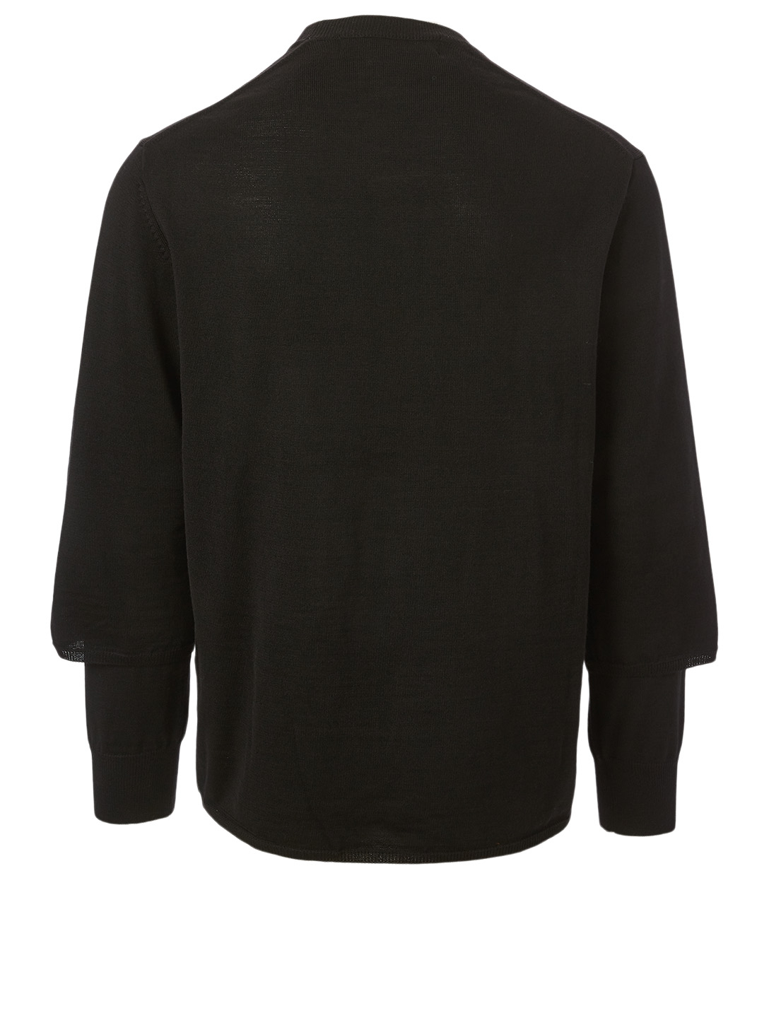 COMME DES GARÇONS HOMME PLUS Wool Worsted Yarn Sweater Men's Black