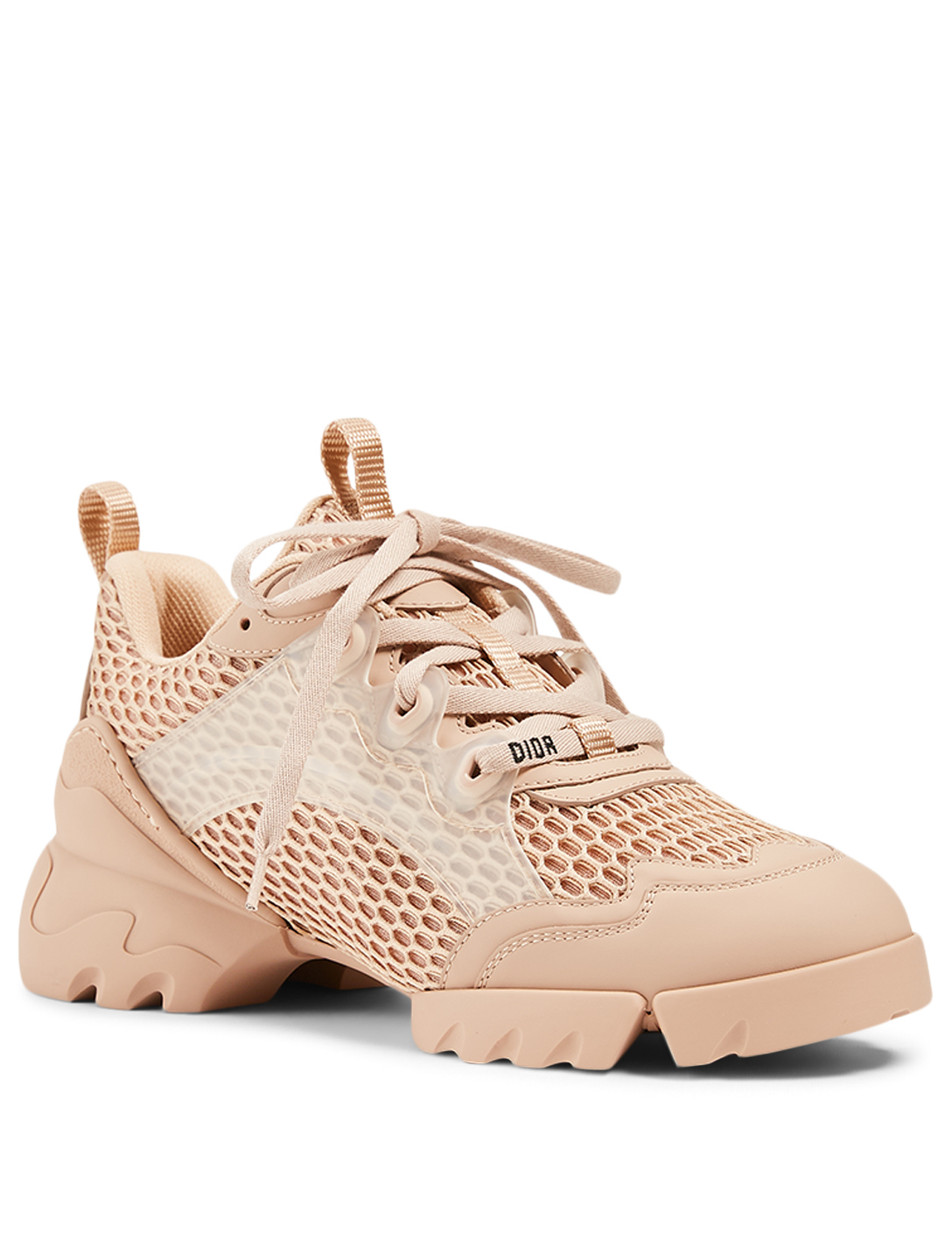 DIOR D-Connect Resille And Leather Sneakers Women's Neutral
