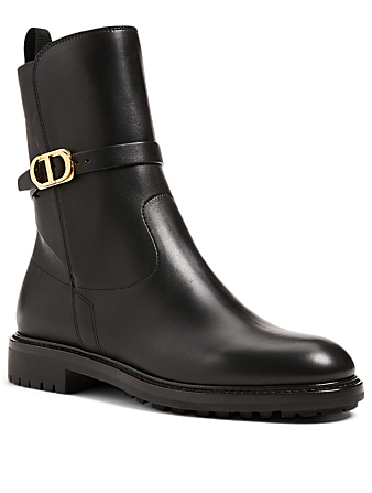 DIOR Dior Empriente Leather Ankle Boots Women's Black