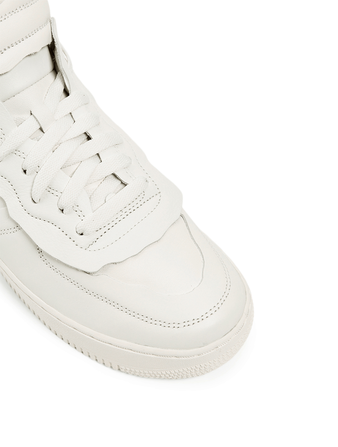 COMME DES GARÇONS X NIKE Men's CDG x NIKE Cut Off Air Force 1 Leather Sneakers Men's White