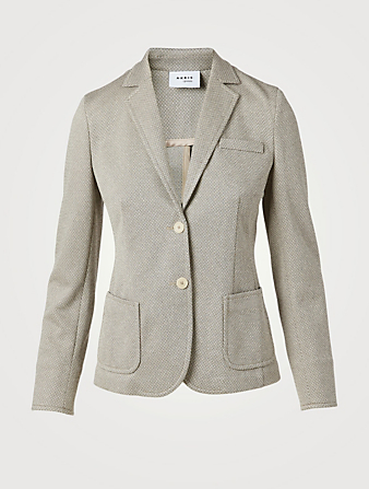 AKRIS PUNTO Fitted Single-Breasted Blazer Women's Beige