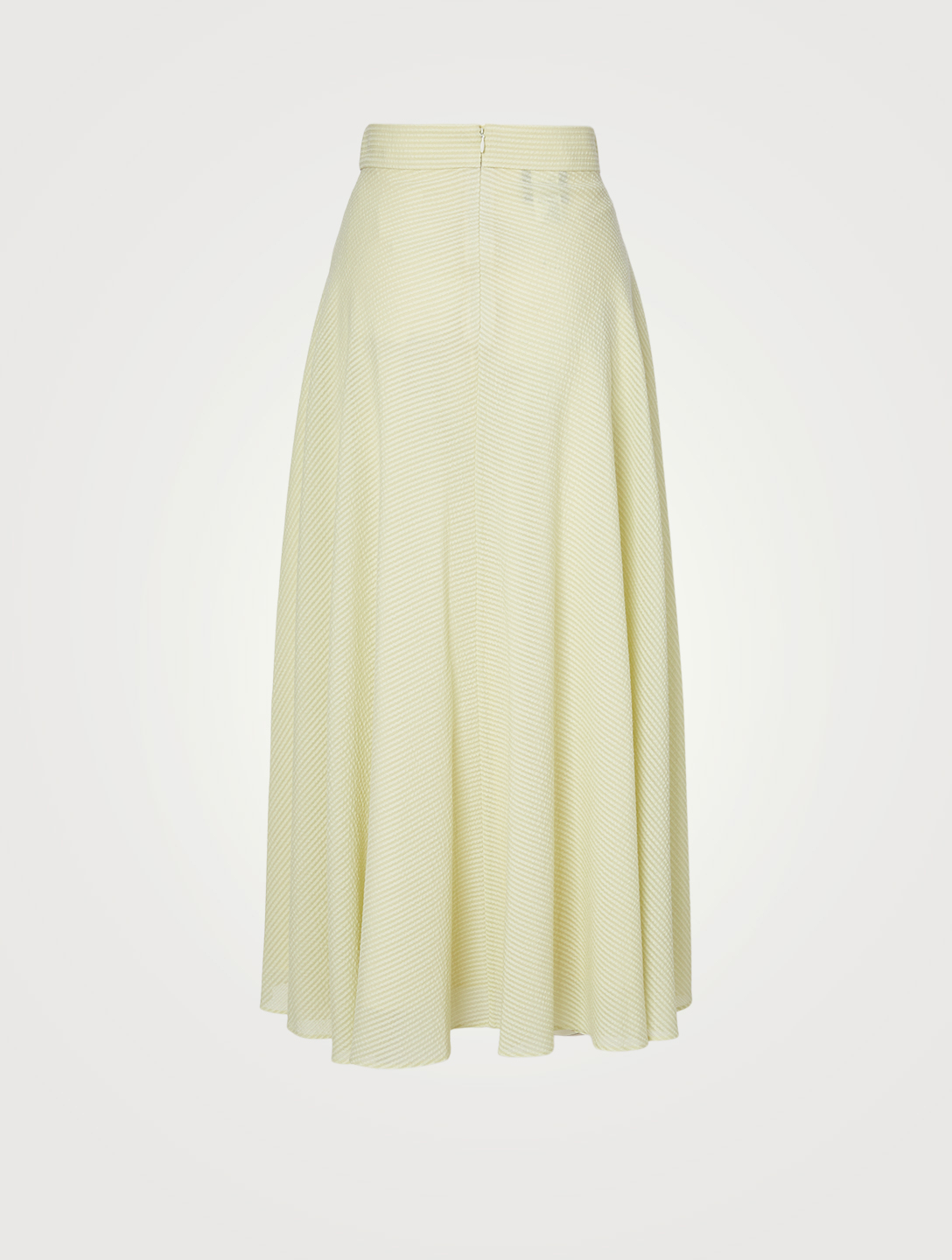 AKRIS Wool And Silk Seersucker Long Skirt Women's Green