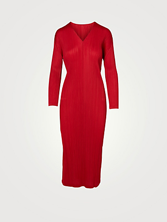 PLEATS PLEASE ISSEY MIYAKE Robe mi-longue Monthly Colour November Femmes Rouge