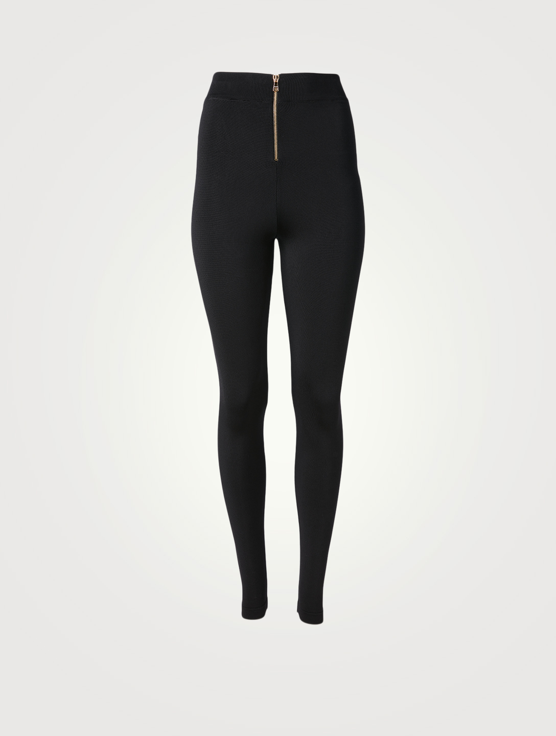 BALMAIN High-Waisted Pants With Buttons Women's Black